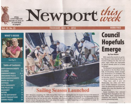 "Newport This Week June 2014: ""Sailing Season Launched"""