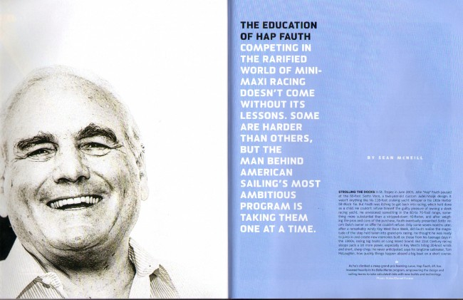 "Sailing World September October 2014: ""The Education of Hap Fauth"""