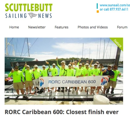 "Scuttlebutt February 2014: ""RORC 600 Closest Finish Ever"""