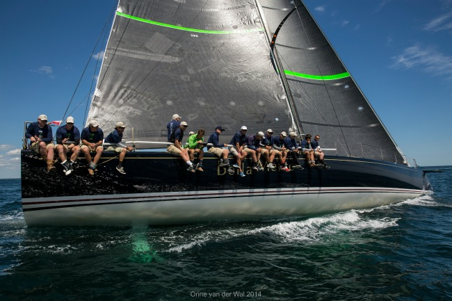 Bella Mente Racing after the start of the Newport Bermuda Race in R.I. (Photo Credit Onne van der Wal)
