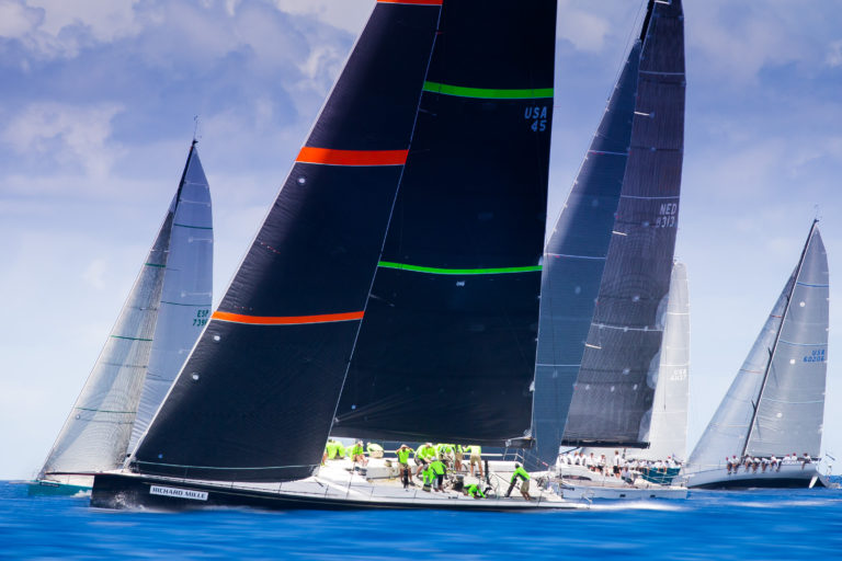 Bella Mente Racing during the 2015 Les Voiles de St. Barth (Photo Credit: Christophe Jouany)
