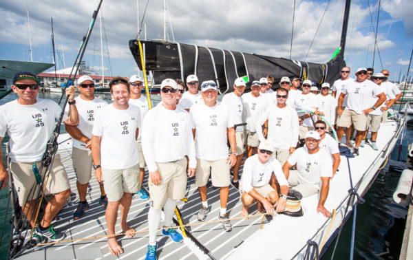 The Bella Mente Racing Team dockside before the final day of racing at the 35th Copa del Rey MAPFRE (© Tomas Moya)